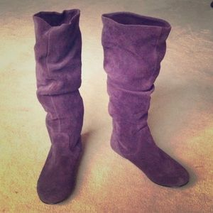 Steve Madden purple suede boots